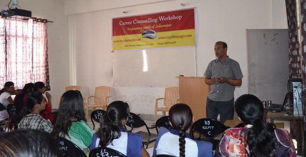Career Counselling Workshop at SIMT, Saharanpur